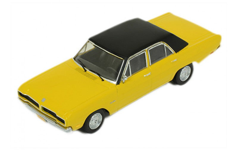 PRD395 - DODGE DART GRAN SEDAN 1976 YELLOW/BLACK ROOF