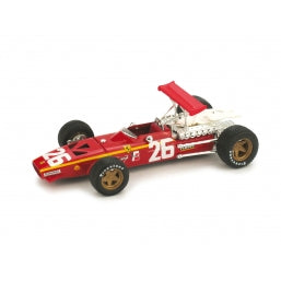 R171 - FERRARI 312 F1 JACKY ICKX 1968 GP FRANCE RED #26