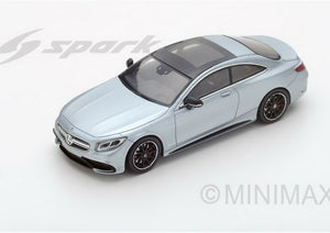 S4917 - MERCEDES BENZ AMG S63 COUPE 2016 METALLIC SILVER