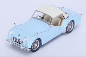 S4946 - TRIUMPH TR3 HARD TOP 1956 LIGHT BLUE WITH CREAM TOP
