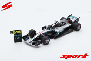 S6067 - MERCEDES-AMG PETRONAS MOTORSPORT #44 MEXICAN GP 2018 MERCEDES AMG F1 W09 EQ POWER LEWIS HAMILTON 2018 F1 DRIVER CHAMPION (WITH PIT BOARD)