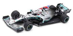 S6089 - MERCEDES-AMG PETRONAS MOTORSPORTS F1 TEAM #44 WINNER BRITISH GP 2019 MERCEDES-AMG F1 W10 EQ POWER LESIS HAMILTON WITH FLAG