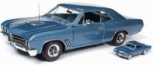 1967 BUICK GS 400 BLUE WITH 1/64TH SCALE REPLICA