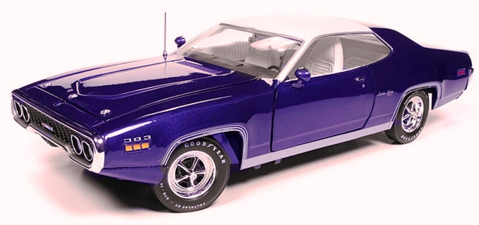 AMM1146 - 1971 PLYMOUTH SATELLITE SEBRING PLUS PURPLE WITH WHITE ROOF