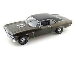 AMM966 - 1969 CHEVROLET NOVA SS 396 GUN METAL GREY/CHARCOAL