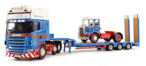 CC13743 - SCANIA R STEP FRAME TRAILER & ATKINSON BORDERER LOAD SCOTLEE TRANSPORT IRVINE SCOTLAND