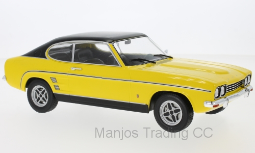 MCG18085 - FORD CAPRI MK1 2000 GXL YELLOW WITH BLACK TOP