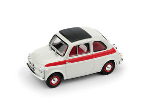R604 - FIAT 500  SPORT CLOSED TOP 1959 WHITE RED STRIPE