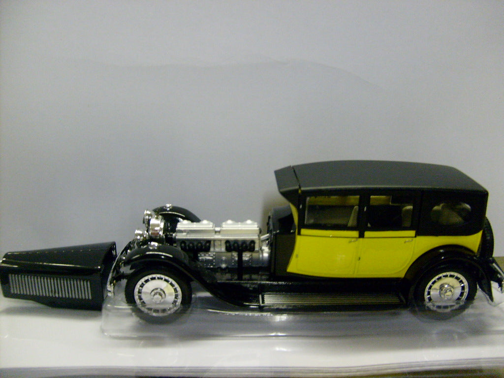 RIO4214 - BUGATTI 41 ROYALE 1927 YELLOW WITH BLACK