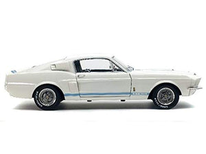 S1802901 - FORD MUSTANG GT 500 WHITE WITH BLUE STRIPES