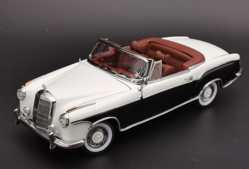 SUN3576 - 1958 MERCEDES BENZ 220SE OPEN CONVERTIBLE IVORY/BLACK