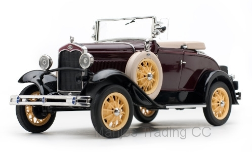 SUN6124 - 1931 FORD MODEL A ROADSTER MAROON