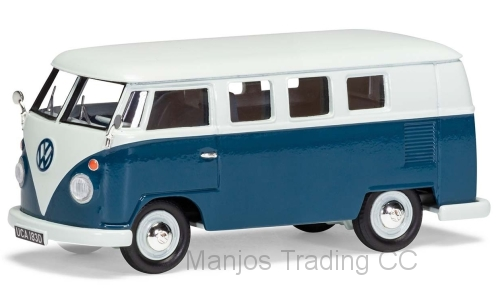 VA08102 - VOLKSWAGEN TYPE 2 CAMPER BLUE AND WHITE