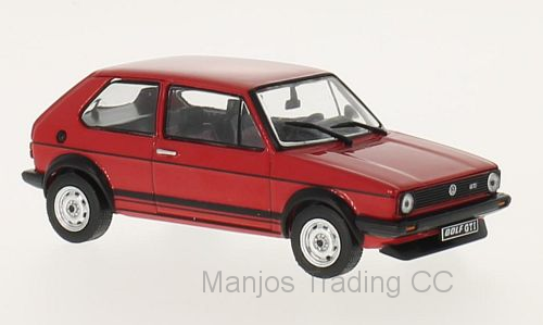 WB239 - VOLKSWAGEN GOLF MKI RED