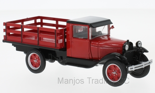 WB290 -  1928 FORD AA PLATFORM TRUCK 1928 RED