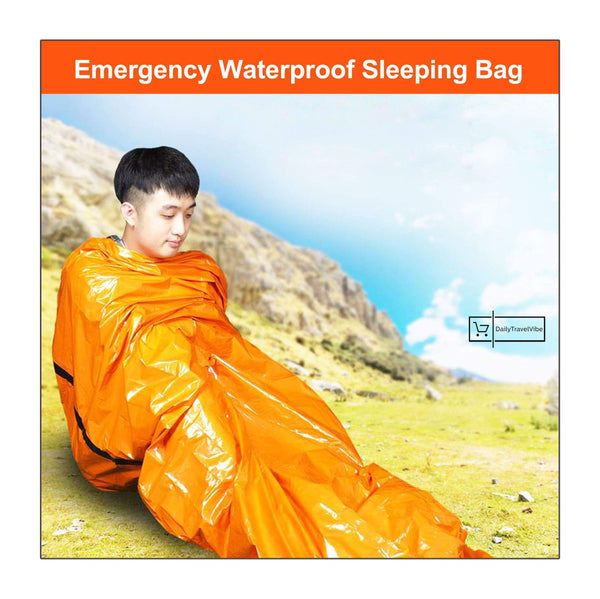 1x Emergency Waterproof Sleeping Bag