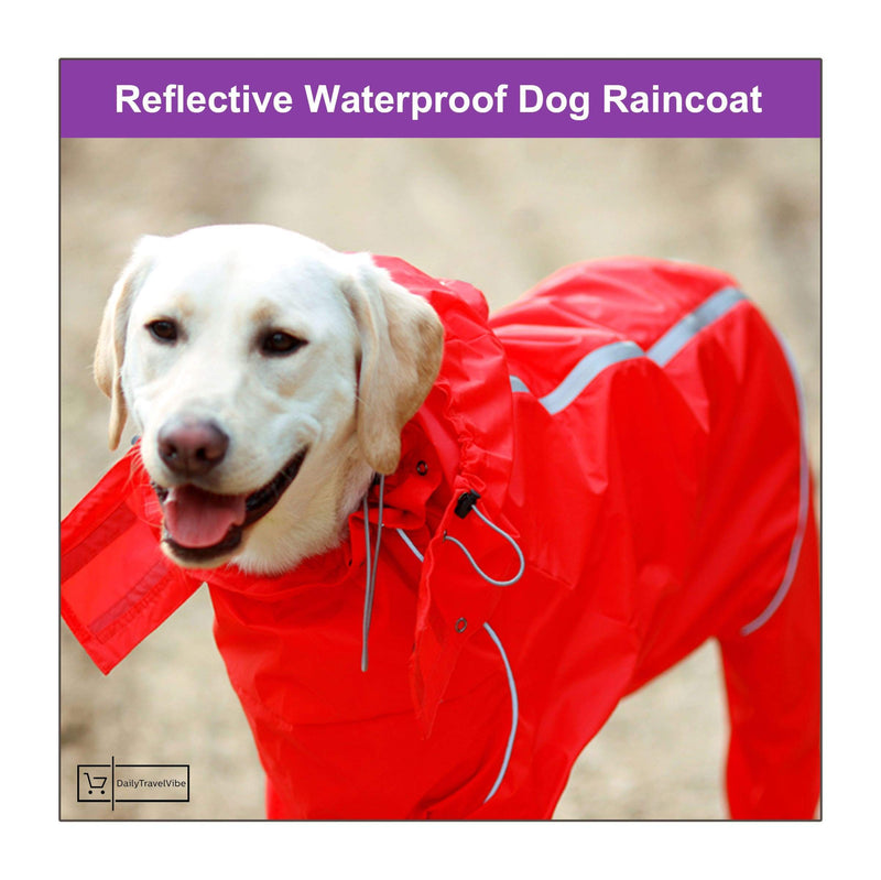 Reflective Waterproof Dog Raincoat