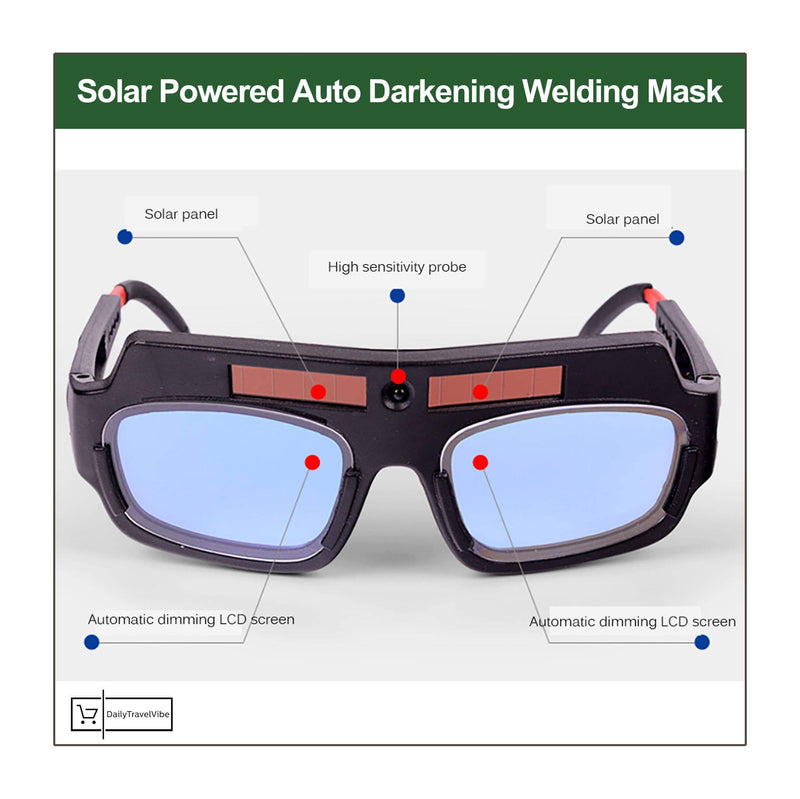 Solar Powered Auto Darkening Welding Mask