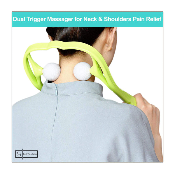 Dual Trigger Massager for Neck & Shoulders Pain Relief