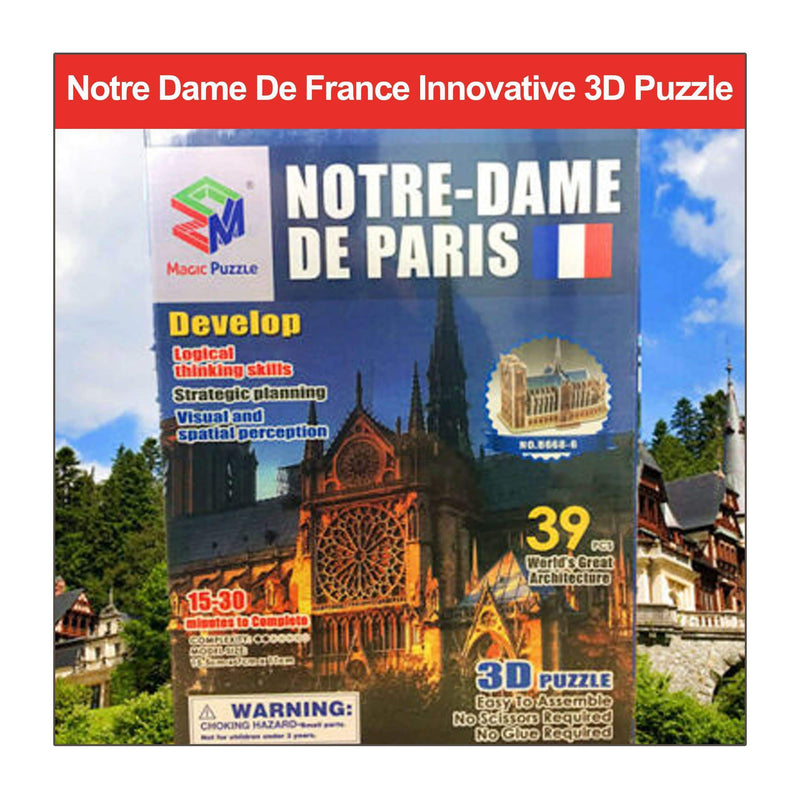 Notre Dame De France Innovative 3D Puzzle