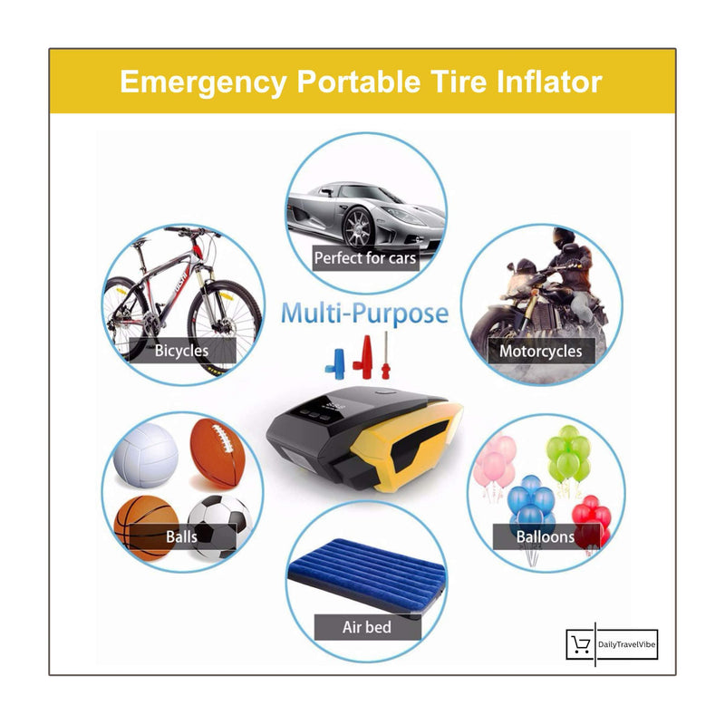 Emergency Portable Tire Inflator
