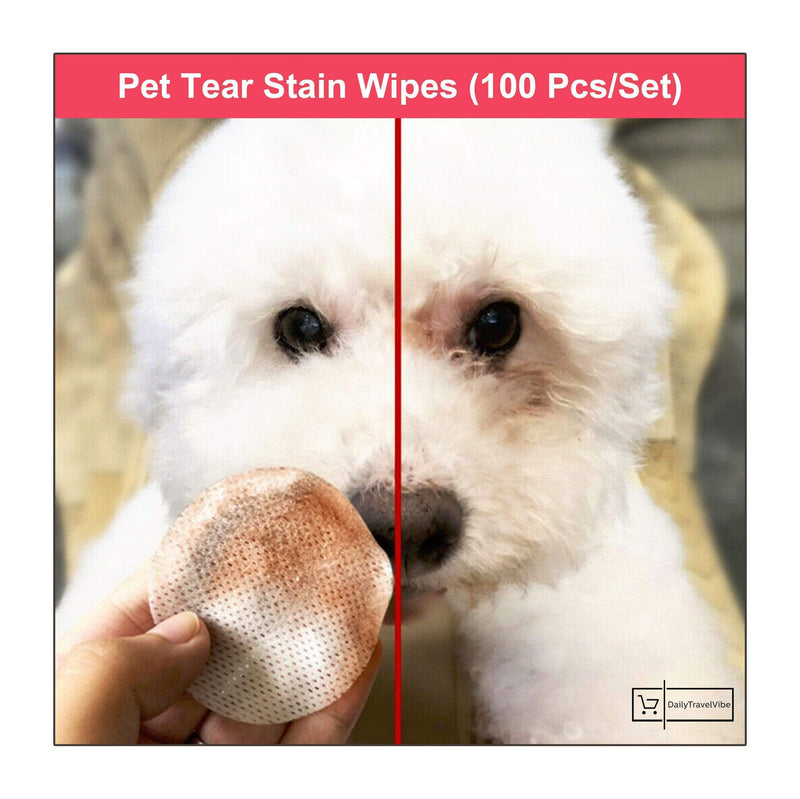 Pet Tear Stain Wipes (100 Pcs/Set)