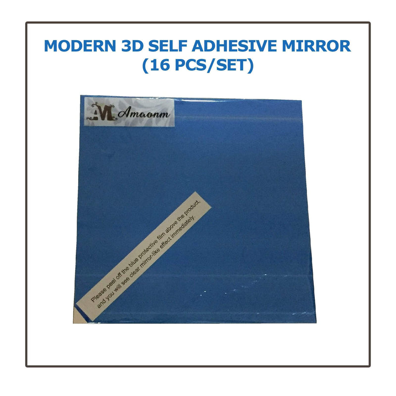 Modern 3D Self Adhesive Mirror (16 pcs/set)