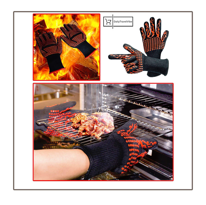 Fireproof Heat Resistant Gloves (1 Pcs/Set)