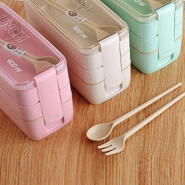 Wheat Straw Lunch Box Container (3 Layers)