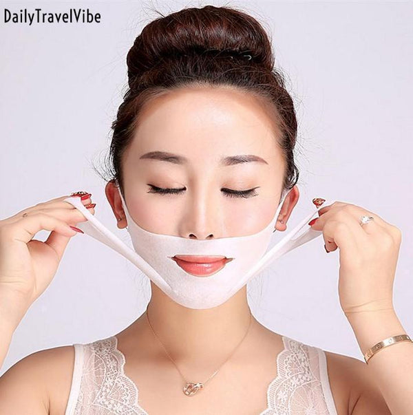 V-Shaped Slimming Contour Facial Mask (2 Pcs/Set)