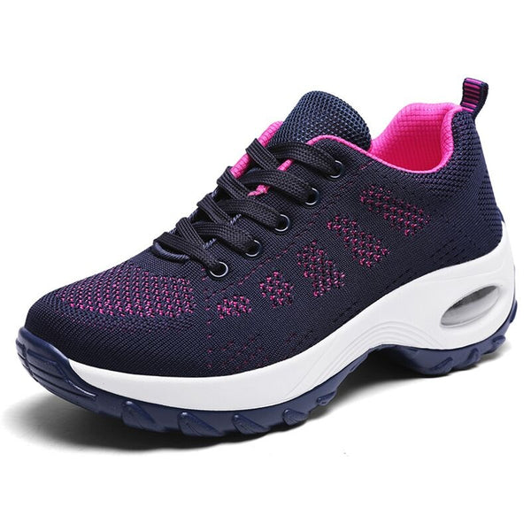 Women Sneakers Lightweight Thick Bottom Mens Shoes Breathable Mesh Female Trainers Casual Shoes - ecartts
