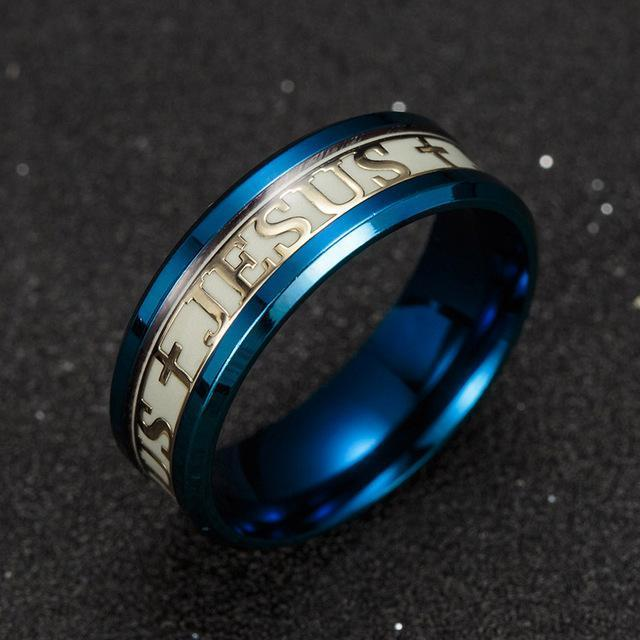 Christianity Glow In The Dark Ring