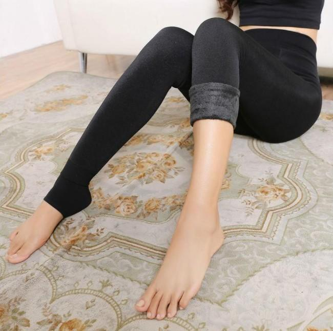 Warm Fleece Leggings For Winter