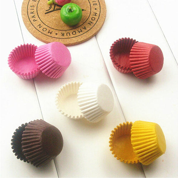Small Mini cupcake liner baking cup 100 pcs - ecartts
