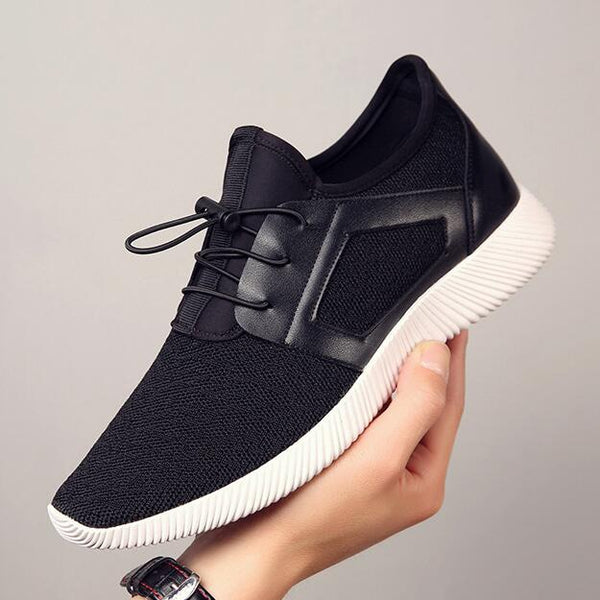 Men Knitting Mesh Breathable Flat Heel Shoes Sport Running Casual Sneakers Men's Shoes - ecartts