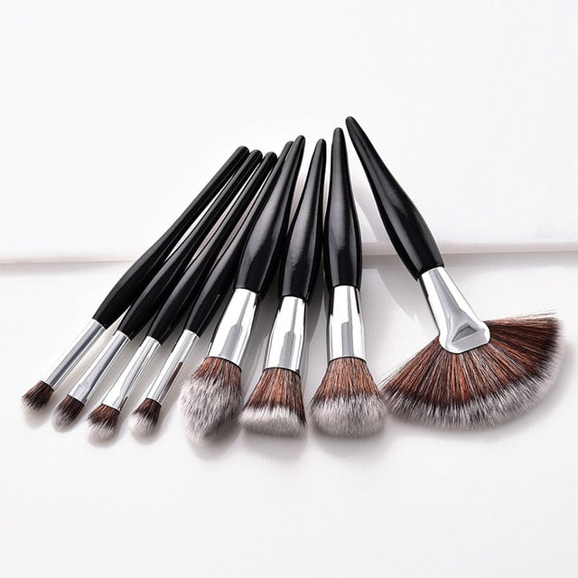 Makeup Brush Set Super Soft Synthetic Head Wood Handle brushes - ecartts