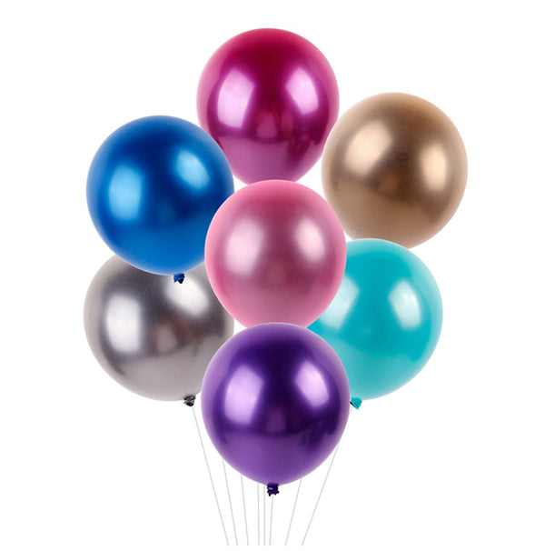 Pearl Metallic Party Balloons 10 Pcs - ecartts
