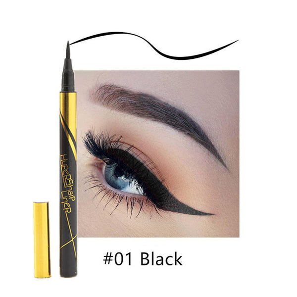 Waterproof Black Liquid Eyeliner Pencil Big Eyes Makeup Long-lasting Eye Liner Pen Make up Smooth Fast Dry Cat Eye Cosmetic Tool - ecartts