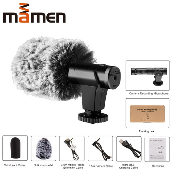 USER-FRIENDLY 3.5MM MICROPHONE FOR SMARTPHONE AND CAMERA - ecartts