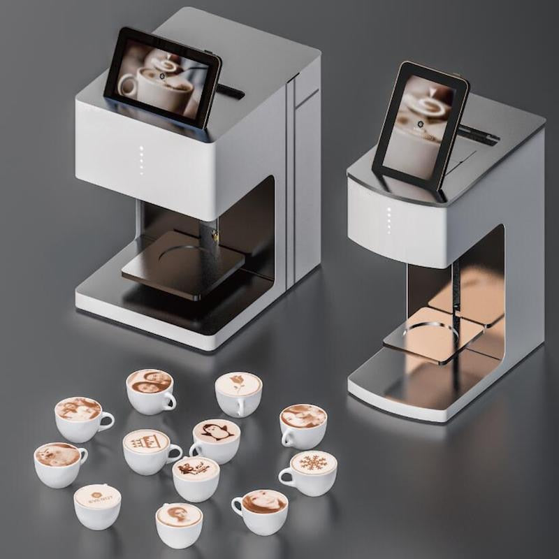 Cofe printer WiFi version Edible Ink beverage Biscuit coffee printer selfie coffee machine with CE, Print on Coffe, Cakes, Beer - ecartts