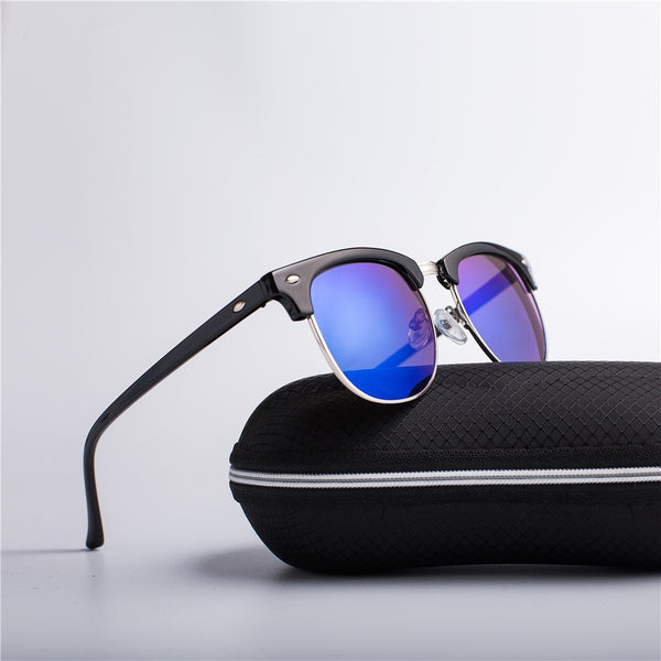 Fashion Sunglasses Men/Women Rivet High Quality Lens Classic Sun Glasses Female - ecartts