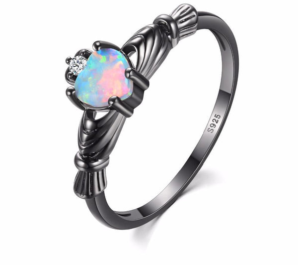 Celeste - Vintage Opal Heart Shaped Ring