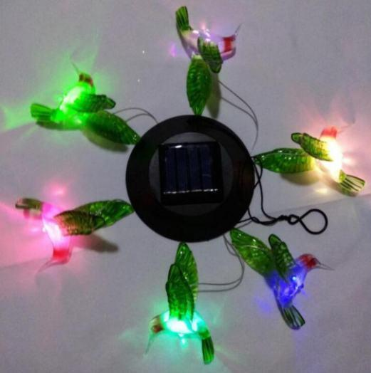 LED Solar Powered Humming Bird Chime