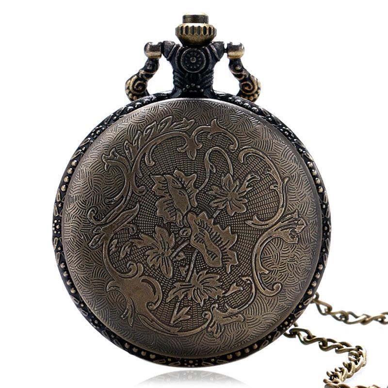Steampunk Vintage Wolf Pocket Watch Necklace