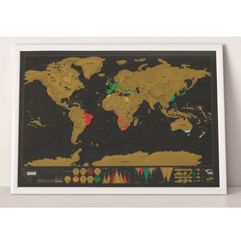 Vintage Travel Scratch Map (Deluxe Version)