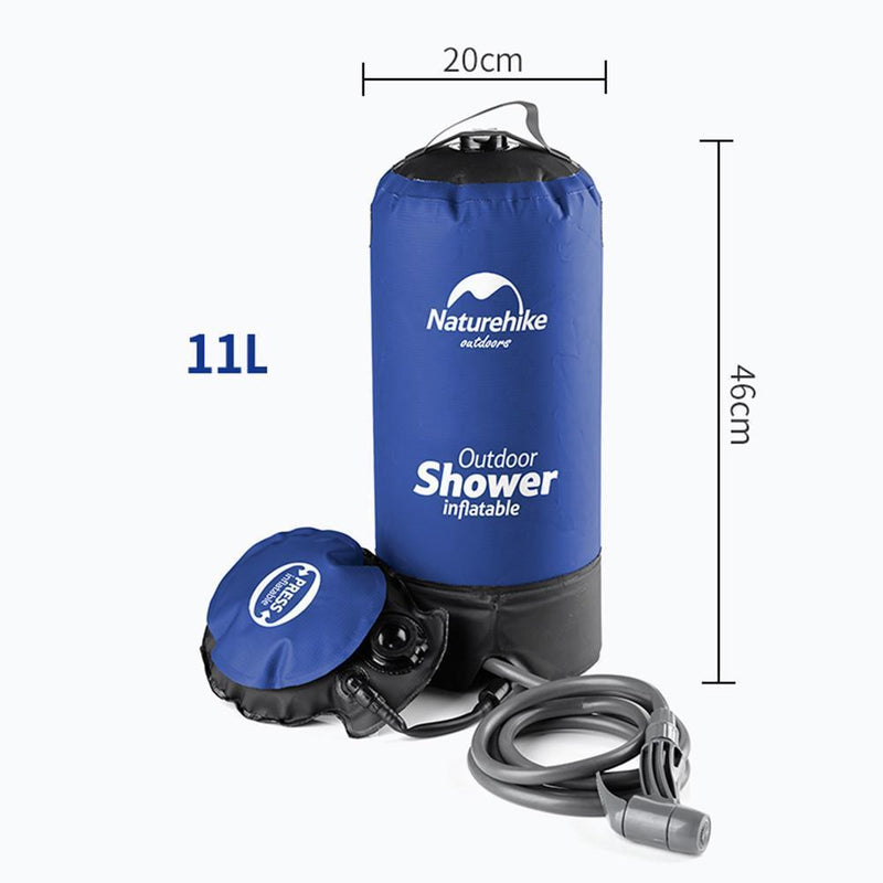 Portable Power Shower With Foot Pump