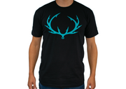Fish Hook Ogie™ Logo Fishing T-Shirt. Fish hook antler logo. Short Sleeve Fishing shirt.