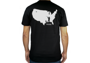USA Fowl / Waterfowl T-Shirt. Fowl / Waterfowl hunting in America.   USA behind a fowl hunter about to shoot. USA fowl hunting. Duck hunting. Goose hunting.