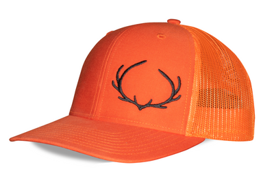 Antler logo. Hunting snapback. Orange with black antler logo. Ogie™ Hunting Snapback. Snap Back One size fits most