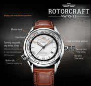 Rotorcraft RC1801 World Time watch manual